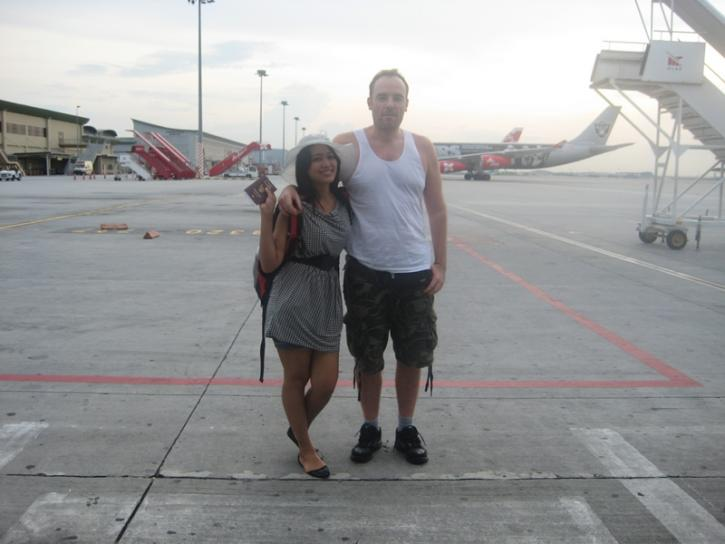 Going to Ubud Bali Airplace Air Asia