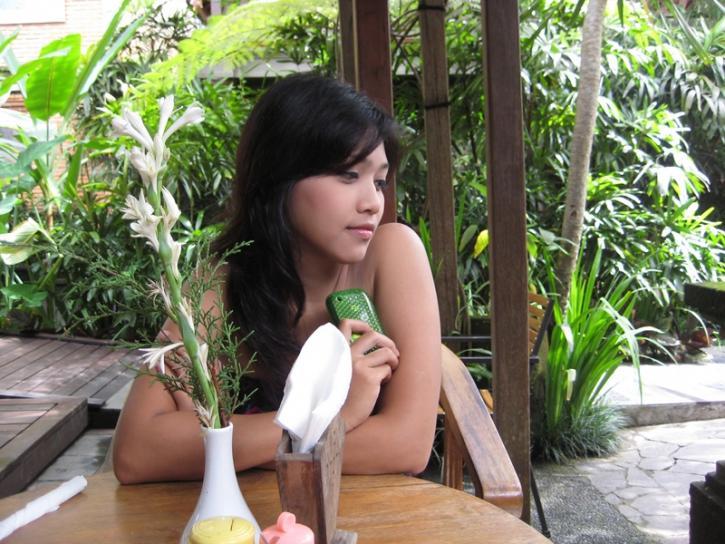 Near the pool in  Ubud Bali